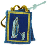 Authentic Catholic Scapular - 100% Wool (Blue Immaculate Conception Scapular)