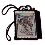 Authentic Catholic Scapular - 100% Wool (Best Brown w/ Brown Cord)