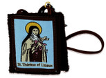 Authentic Catholic Scapular - 100% Wool (Saint Therese the Little Flower)