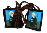 Authentic Catholic Scapular - 100% Wool (Saint Benedict Brown Scapular)