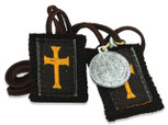 "Authentic Catholic Scapular - 100% Wool (Crusader 24"")"