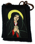 Authentic Catholic Scapular - 100% Wool (Black Sorrowful Mother Scapular)