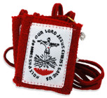 Authentic Catholic Scapular - 100% Wool (Red Passion Scapular)