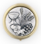 Catholic Holy Communion Pyx (Grapes and Wheat)