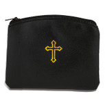 Beautiful Catholic Rosary Case (Black, 1 Pack)