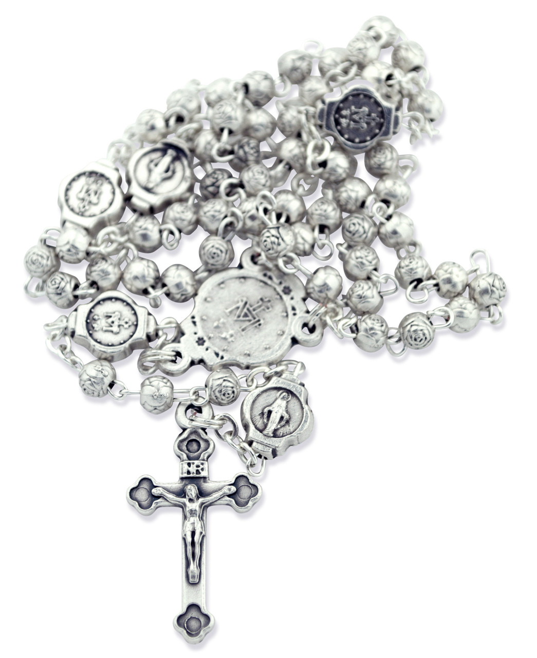 Beautiful Catholic Rosary and Case Gift Set (Divine Mercy
