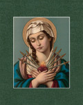 Pre-Matted Traditional Catholic Art - Fits Standard 11x14 Frame