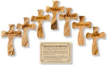Olive Wood Prayer Cross - Handmade in the Holy Land