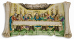 "Painted Resin Last Supper Plaque, 10"" x 5"""