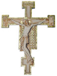 "Cimabue Resin Wall Crucifix with Gold Leaf, 11"" x 8"""