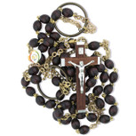 Monk's Girdle Catholic Rosary with Wood Beads