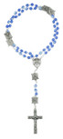 Our Lady of Lourdes Crystal Rosary - Made in Italy by Vatican Imports