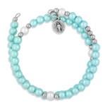 Imitation Pearl Bracelet with Miraculous Medal