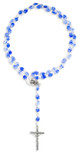 Beautiful Catholic Rosary with Swirl Glass Beads by Vatican Imports