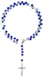 Capped Glass Rosary Beads for First Communion