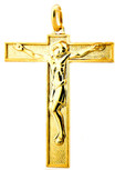 Gold-Tone Romanesque Crucifix Pendant