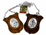 Deluxe Italian Leather Scapular with Medals and Chain