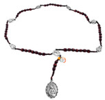 Our Lady of Sorrows Rosary with Wood Beads From Italy