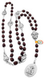 Rosary of the Seven Sorrows with Wood Beads From Italy
