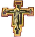 Classical Art Wall Cross Featuring the Crucifixion by Cimabue