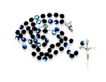 Italian Crystal Rosary Beads with Metal Crucifix