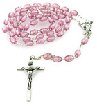Simple Catholic Rosary with Colorful Beads