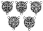 Pack of 5 Saint Benedict Medal Rosary Centers