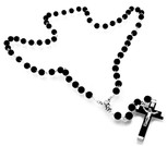 Boys' First Communion Rosary with Wood Beads