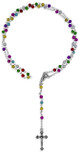 Small Kiddie Rosary with Multicolor Beads
