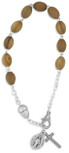 Olive Wood Rosary Bracelet by Venerare
