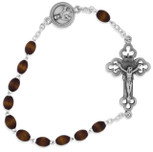 One Decade Kant Tangle Rosary with Natural Wood Beads