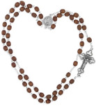 Kant Tangle Rosary with Natural Wood Beads