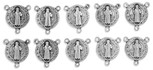 15mm Saint Benedict Medal Rosary Center - Pack of 10