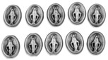 7mm Miraculous Medal / Immaculate Conception Beads - Pack of 10