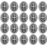 10mm Bulk Saint Benedict Medal Rosary Beads - Pack of 25