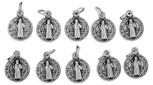 14mm Saint Benedict Bracelet Charm Medal - Pack of 10