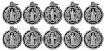 16mm Saint Benedict Medal with Polished Trim - Pack of 10