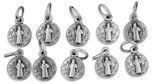 9mm Saint Benedict Medal Bracelet Charm - Pack of 10