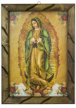 "Authentic Mexican Our Lady of Guadalupe Picture, 13"" x 18"""