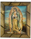 "Authentic Mexican Our Lady of Guadalupe Picture, 10"" x 12"""