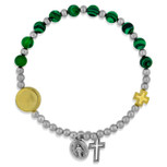 Miraculous Medal Bracelet with Genuine Semi-Precious Gems