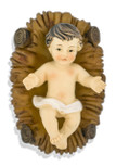 Infant Jesus and Manger Figurine Set for Nativity Scene