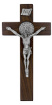 "6"" Walnut Saint Benedict Cross"