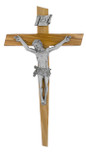 "8"" Olive Wood Cross with Notched Edges"