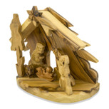 Hand-Carved Olive Wood Nativity Scene
