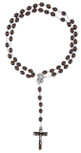 Mahogany Rosary with Sacred Heart of Jesus Center Bead