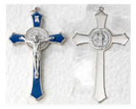 Large Saint Benedict Pectoral Cross with Colored Enamel