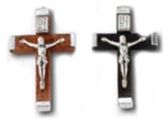 Traditional Catholic Rosary Cross - Pack of 3