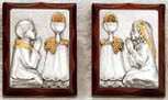 Hand-Carved First Communion Keepsake Plaque