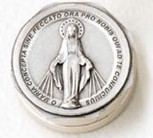 Mini Rosary Box with Saint Plaque